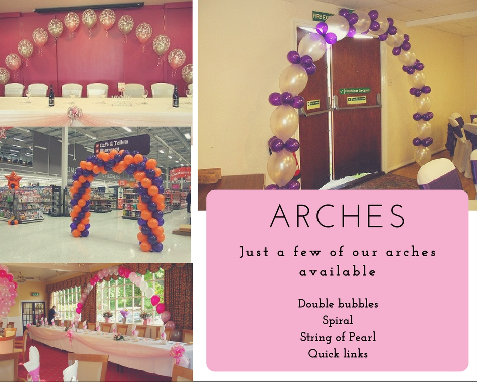Balloon decorations - Arches