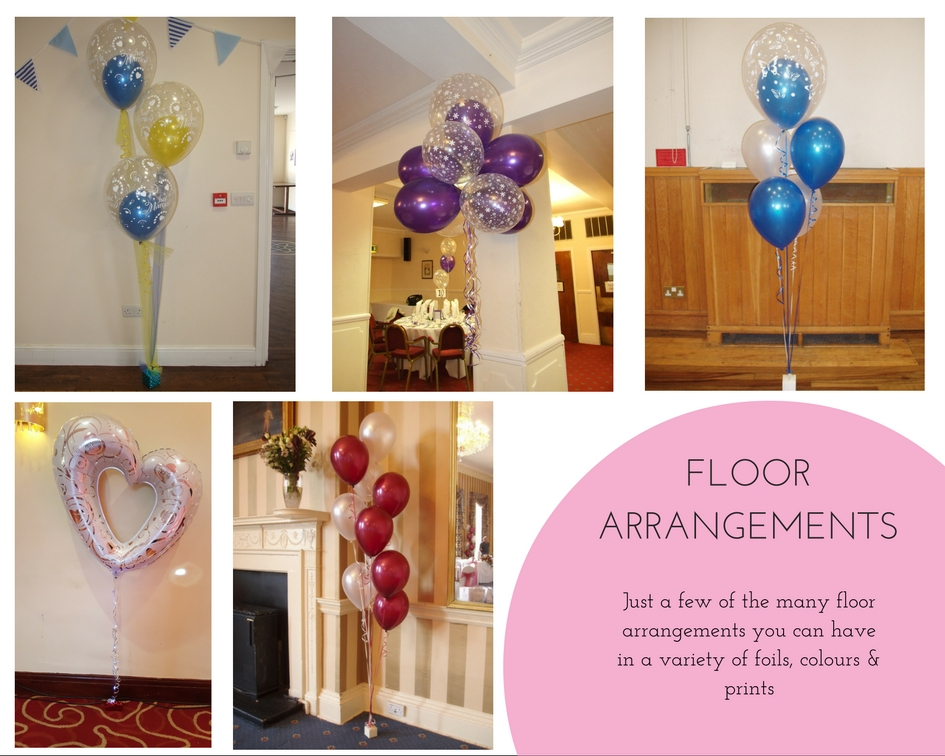Balloon decorations - floor arrangements