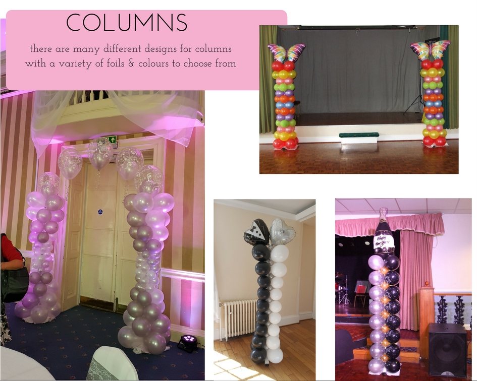 Balloon decorations - Columns