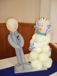 Bride & Groom latex Ballons